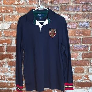 Polo Ralph Lauren Polo Shirt with Crest USM Navy
